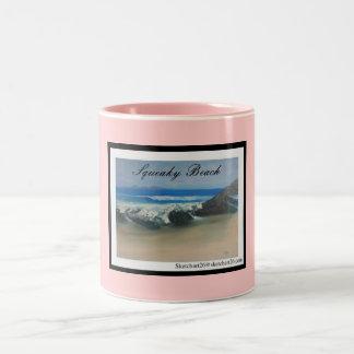 ピカピカのビーチ ツートーンマグカップ