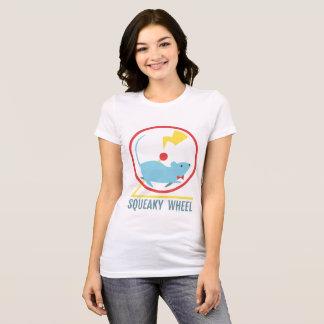 ピカピカの車輪の女性のワイシャツ Tシャツ