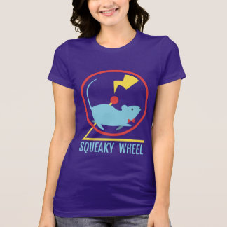 ピカピカの車輪の女性の暗い色のワイシャツ Tシャツ