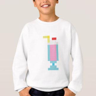 ピクセルいちごのミルクセーキ スウェットシャツ