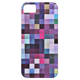 ピクセルはiPhone 5の場合-紫色--を平方します iPhone SE/5/5s ケース