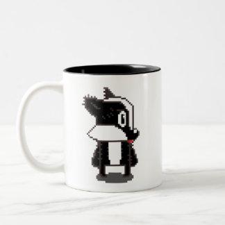 ピクセルアナグマ ツートーンマグカップ