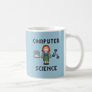 ピクセルコンピュータ・サイエンス-女性-マグ コーヒーマグカップ