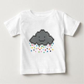 ピクセルシャワー雲multicolour.png ベビーTシャツ
