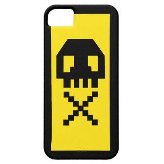 ピクセルスカルのゲーマーの黄色のiPhone 5の場合 iPhone SE/5/5s ケース