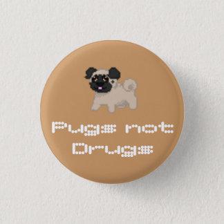 ピクセルパグボタン 3.2CM 丸型バッジ
