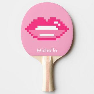 ピクセルピンクの唇の卓球の卓球ラケット ピンポンラケット