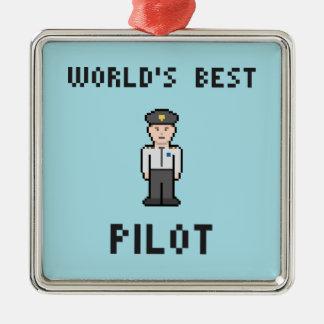 ピクセルベストのパイロット メタルオーナメント
