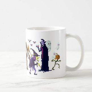 ピクセルモンスターのキャラクターのマグ コーヒーマグカップ