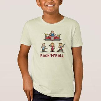 ピクセルロックンロールバンド子供のTシャツ Tシャツ
