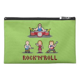 ピクセルロックンロールバンド旅行アクセサリーバッグ トラベルアクセサリーバッグ