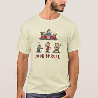ピクセルロックンロールバンドTシャツ Tシャツ