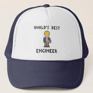 ピクセル世界で最も最高のなエンジニアの帽子 キャップ