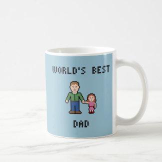 ピクセル世界で最も最高のなパパのマグ コーヒーマグカップ