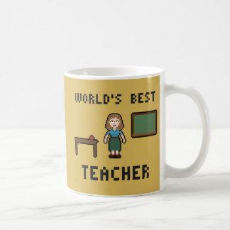 ピクセル世界で最も最高のな先生のマグ コーヒーマグカップ