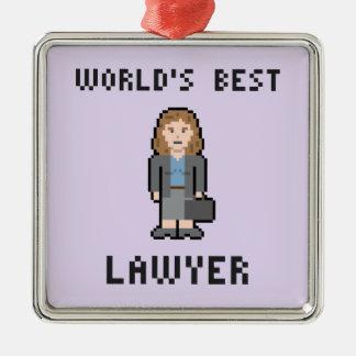 ピクセル世界で最も最高のな女性弁護士のオーナメント メタルオーナメント