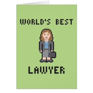 ピクセル世界で最も最高のな女性弁護士の挨拶状 カード