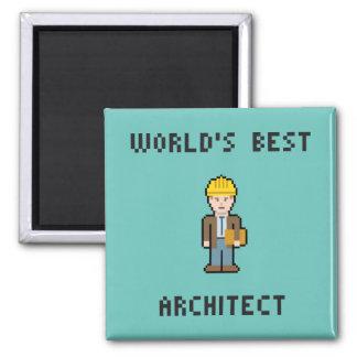ピクセル世界で最も最高のな建築家 マグネット