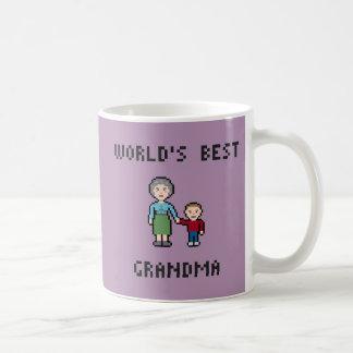 ピクセル世界で最も最高のな祖母のマグ コーヒーマグカップ