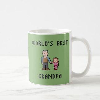 ピクセル世界で最も最高のな祖父のマグ コーヒーマグカップ