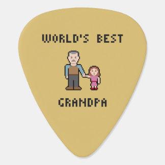 ピクセル世界で最も最高のな祖父 ギターピック