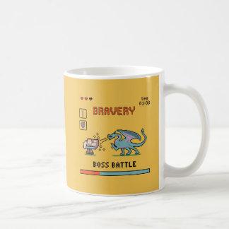 ピクセル勇気のマグ コーヒーマグカップ