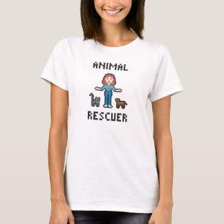 ピクセル動物の救助者 Tシャツ