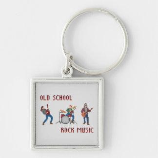 ピクセル古い学校のロック・ミュージック キーホルダー