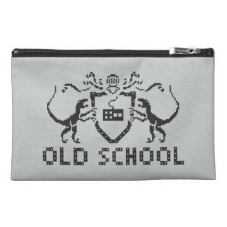ピクセル古い学校の恐竜旅行アクセサリーバッグ トラベルアクセサリーバッグ