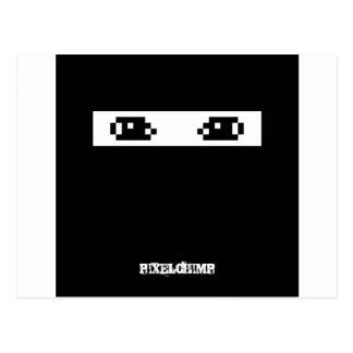 ピクセル忍者の暗闇 ポストカード