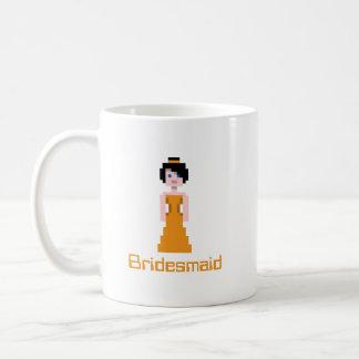 ピクセル新婦付添人-オレンジ コーヒーマグカップ