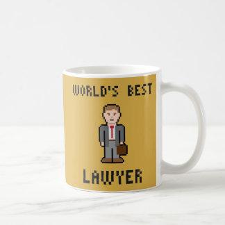 ピクセル最も最高のな弁護士のマグ コーヒーマグカップ