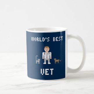 ピクセル最も最高のな獣医のマグ コーヒーマグカップ