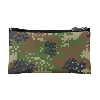 ピクセル森林カムフラージュ コスメティックバッグ