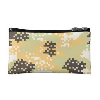 ピクセル砂漠のカムフラージュ コスメティックバッグ