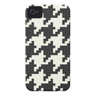 ピクセル織り目加工猟犬歯 Case-Mate iPhone 4 ケース
