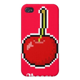 ピクセル芸術のさくらんぼのSpeckの場合 iPhone 4/4Sケース