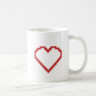 ピクセル芸術のハート コーヒーマグカップ