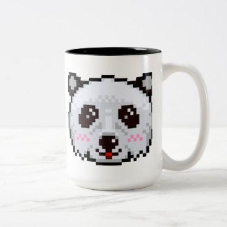 ピクセル芸術のパンダ ツートーンマグカップ
