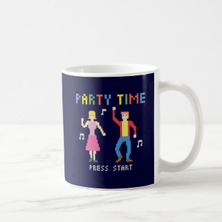 ピクセル芸術のパーティーのタイムのマグ コーヒーマグカップ