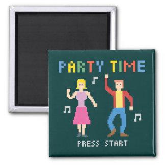 ピクセル芸術のパーティーの時間磁石 マグネット