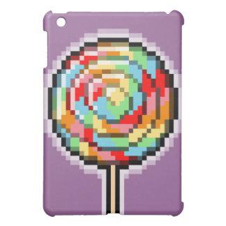 ピクセル芸術の棒つきキャンデーキャンデーのSpeckの場合 iPad Miniケース