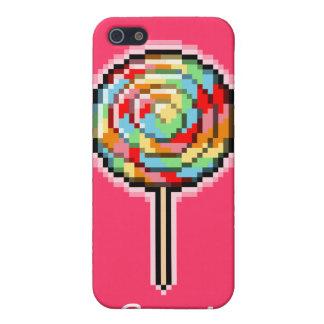 ピクセル芸術の棒つきキャンデーキャンデーのSpeckの場合 iPhone 5 カバー