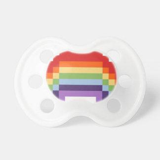 ピクセル芸術の虹 おしゃぶり