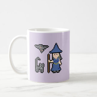 ピクセル芸術の魔法使いのマグ コーヒーマグカップ