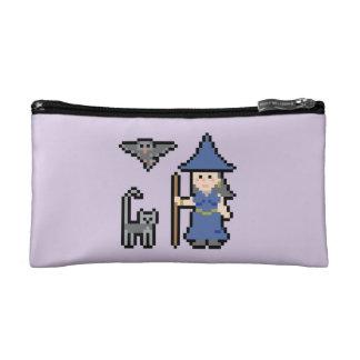 ピクセル芸術の魔法使いの小さい化粧品のバッグ コスメティックバッグ