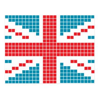 ピクセル英国国旗8ビットイギリス(イギリス)の旗 ポストカード