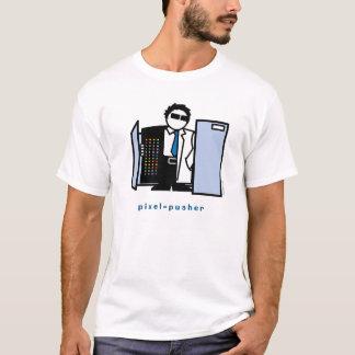 ピクセル補助機関車のワイシャツ Tシャツ