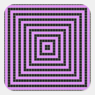 ピクセル錯覚パターン スクエアシール