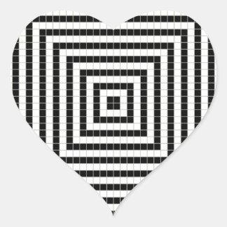 ピクセル錯覚パターン ハートシール